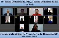 Câmara realiza primeira sessão virtual