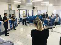 ESTUDANTES DA ESCOLA EVERARDO BACKHEUSER VISITAM A CÂMARA MUNICIPAL DE VEREADORES DE DESCANSO