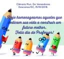 HOMENAGEM AOS PROFESSORES