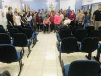 Poder Legislativo recebe visita de alunos, diretora, professores, psicóloga, assistente social e terapeuta ocupacional da APAE de Descanso