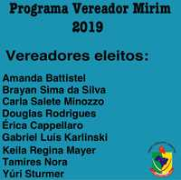 PROGRAMA VEREADOR MIRIM