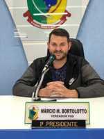 VEREADOR MÁRCIO BORTOLOTO ASSUME A PRESIDÊNCIA NO MÊS JUNHO DE 2019